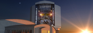 Artist's conception of sunset at the GMT, courtesy GMT Corporation.